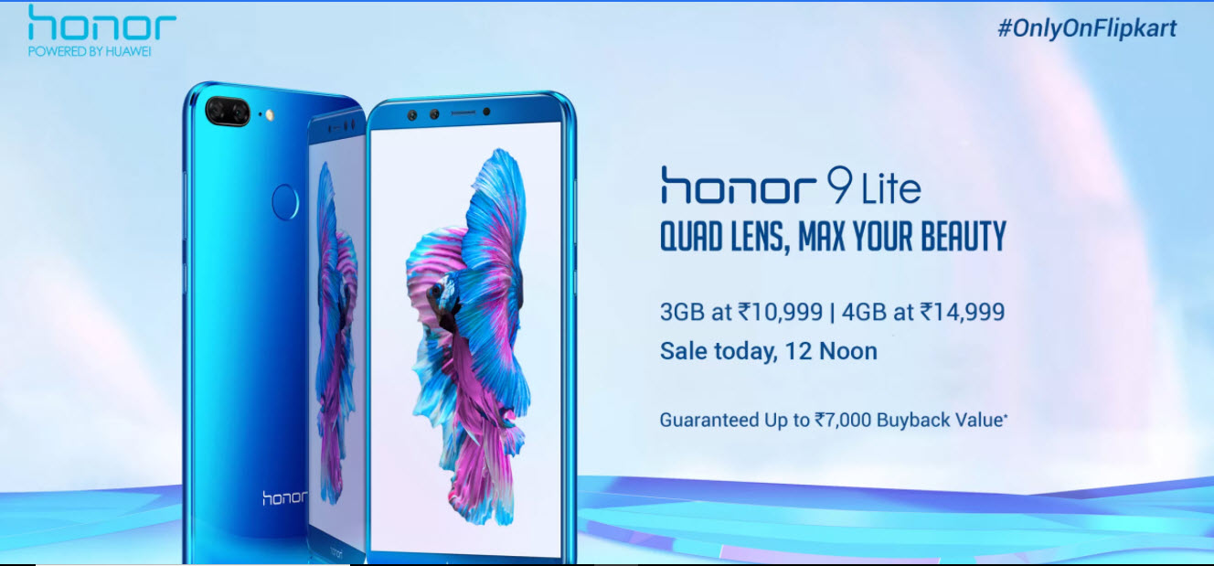 Honor 9 Lite flash sale today on Flipkart at 12PM