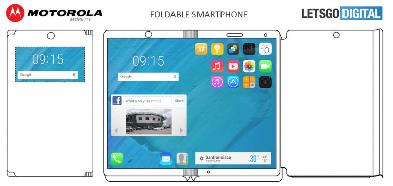 foldable smartphone tablet layout