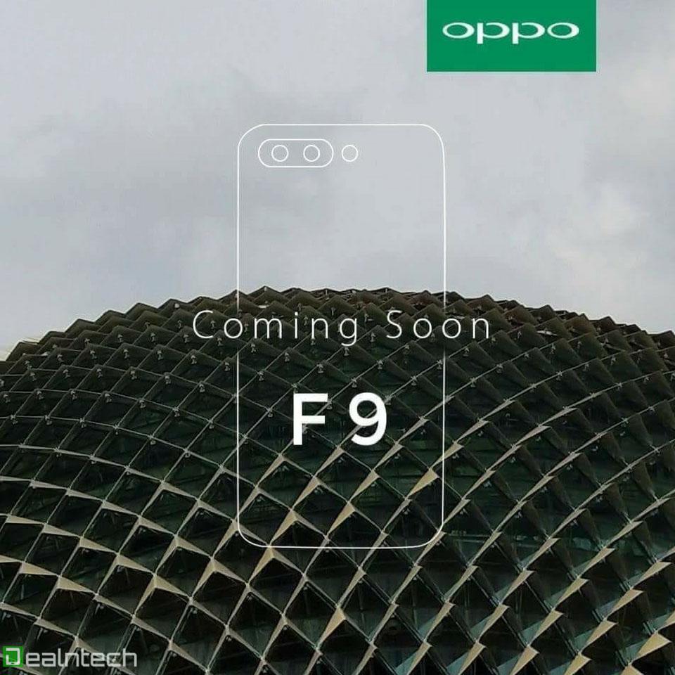 Oppo F9 teaser