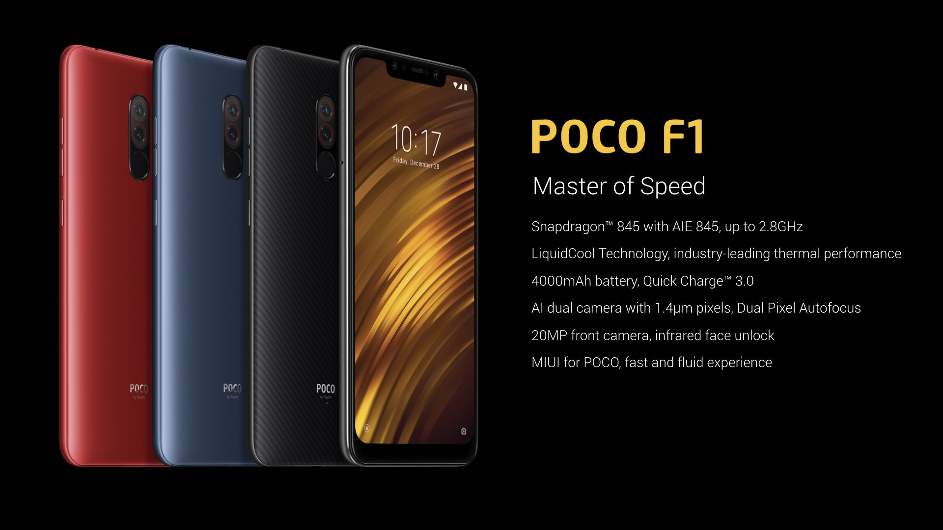 Poco F1 With Liquidcool Technology Launched Everything